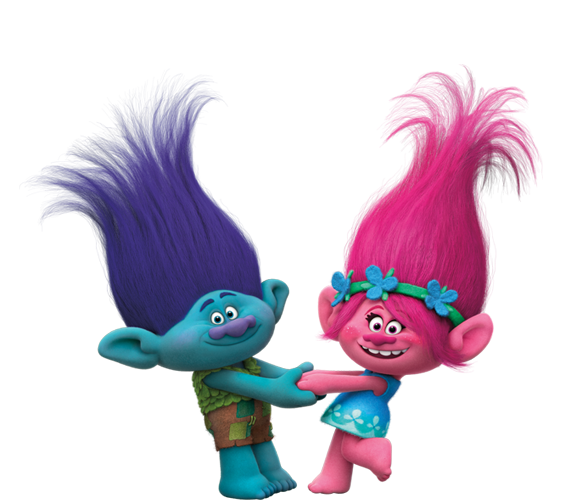 Great Dreamworks Trolls   Branch And Princess Poppy.png