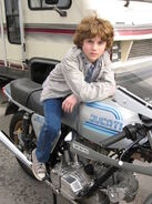 Young Sam Flynn Motorcycle
