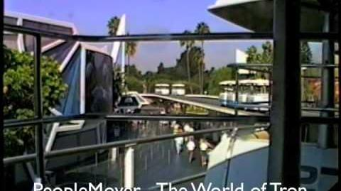Disneyland-Peoplemover Thru the World of Tron-Sept. 1990. The Whole Ride. Part 1