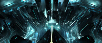 Tron legacy under the tower by vyle art-d3878ux