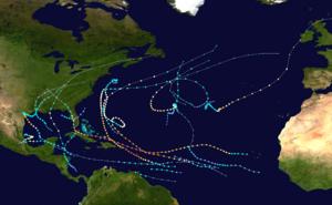 2017 Atlantic hurricane season summary map