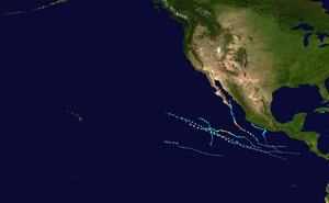 2018 Pacific hurricane season summary map