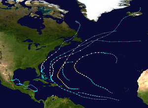 2014 Atlantic hurricane season summary map