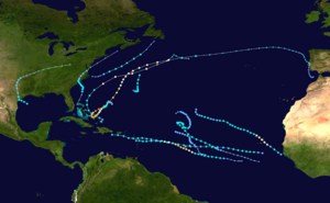 2015 Atlantic hurricane season summary map