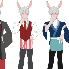 Outfit variations for Kichiro