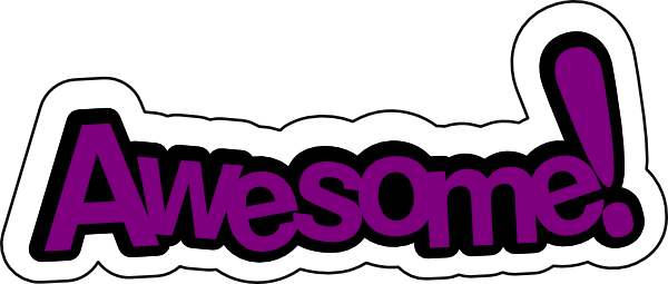 image awesome in purple clip art at clker com vector clip art rh trove wikia com you're awesome free clipart thank you you're awesome clipart