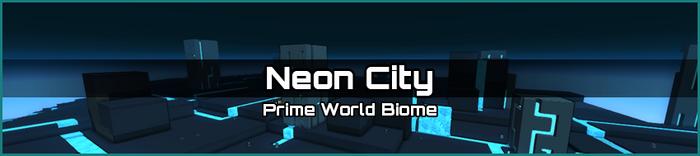 Neon City biome banner
