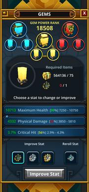 Gem Forge UI base