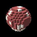 Interactive ball mushroom red