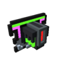 Badge Neon Dragon silver