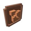 Badge Blocks Destroyed bronze