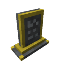Gilded Tombstone