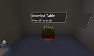 Snowfest table