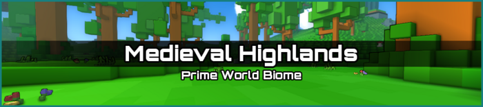 Medieval Highlands biome banner