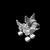 Silverfang Pup small