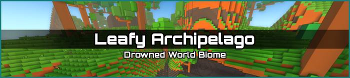 Leafy Archipelago biome banner