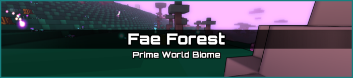 Fae Forest biome banner