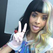 Melanie being cute