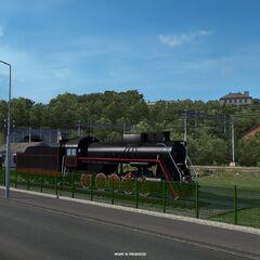 Старый локомотив в <a class=