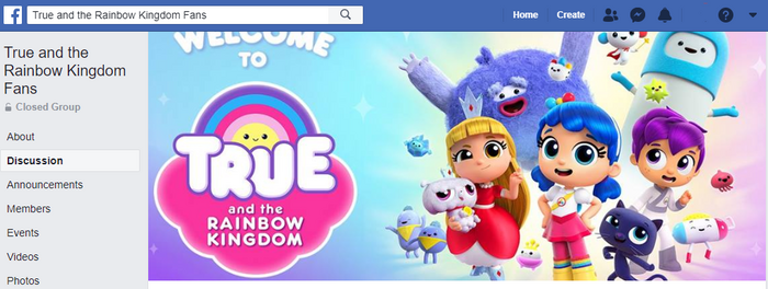 True and the Rainbow Kingdom Fans Facebook group