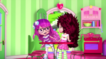 Sweet is greeting Strawberry in the cafe