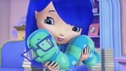 Blueberry holding Bosley Bookworm