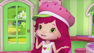 Strawberry is talking on the phone