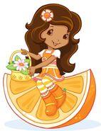 Orange Blossom On A Orange Slice