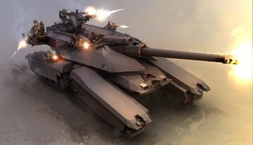 Anti infantry tank