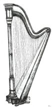 Harp Pencil Drawing by KouMiRien
