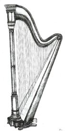 Harp Pencil Drawing by KouMiRien