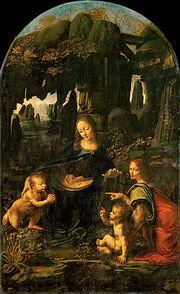250px-Leonardo da Vinci - Virgen de las Rocas Museo del Louvre c 1480-1seivim