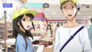 Akane and Hira wearing hats