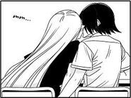 Ryouko kisses akagi for the first time