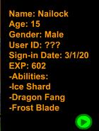TTA Nailock's Stat Card