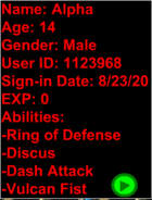 TTA Alpha's Stat Card