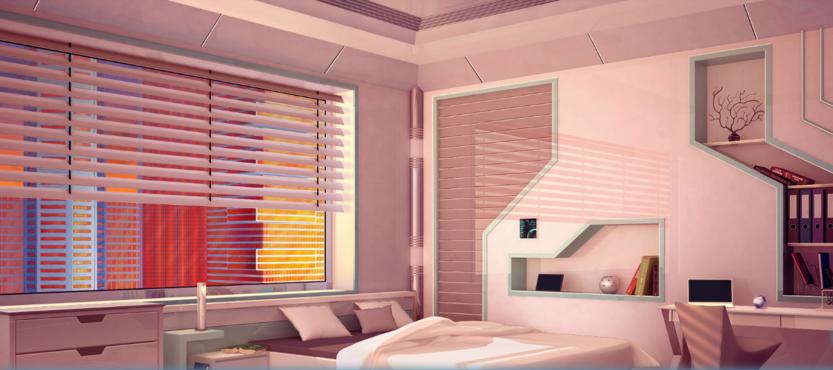 MC bedroom evening