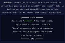 Zero - Warning