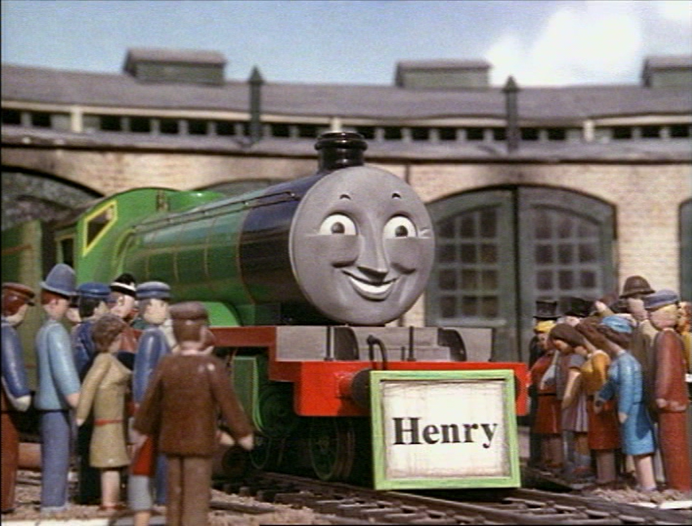 Image Henrywithnameboard Png Thomas The Tank Engine