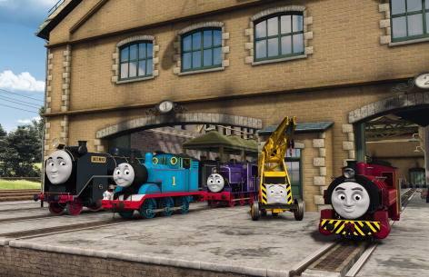 File:Thomas,Hiro,Charlie,KevinandVictorattheSodorSteamworks.jpg