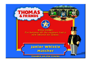 TroubleOnTheTracksCertificateJuniorWhistleMatcher