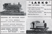 LARKO 1950 advertisment