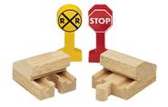 WoodenRailway2Buffers2SignsPack