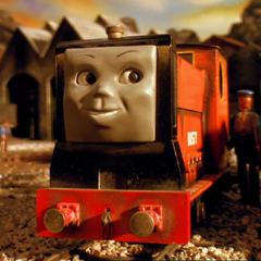 転落した機関車
