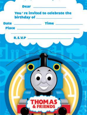 Image Invitationsjpg Thomas The Tank Engine Wikia FANDOM - Birthday invitation card thomas and friends