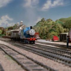 注:炭水車が脱線しているエドワード