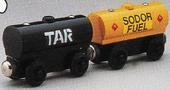 WoodenRailway1995PrototypeTarTankerAndFuelCar
