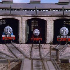 注:機関車達の機関庫の位置