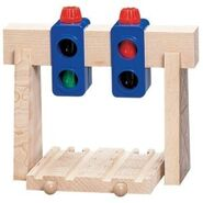 WoodenRailwayOvertheTrackSignal