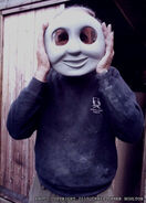 Christopher Noulton with the Large Scale Thomas Mask